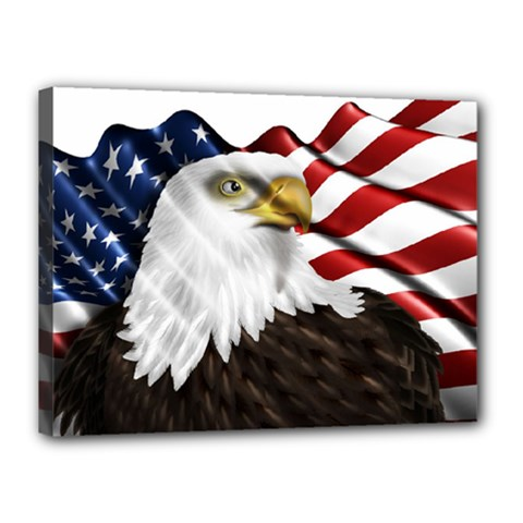 American Eagle Flag Sticker Symbol Of The Americans Canvas 16  X 12  by Sapixe