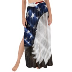 American Eagle Flag Sticker Symbol Of The Americans Maxi Chiffon Tie Up Sarong