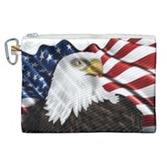 American Eagle Flag Sticker Symbol Of The Americans Canvas Cosmetic Bag (xl) by Sapixe
