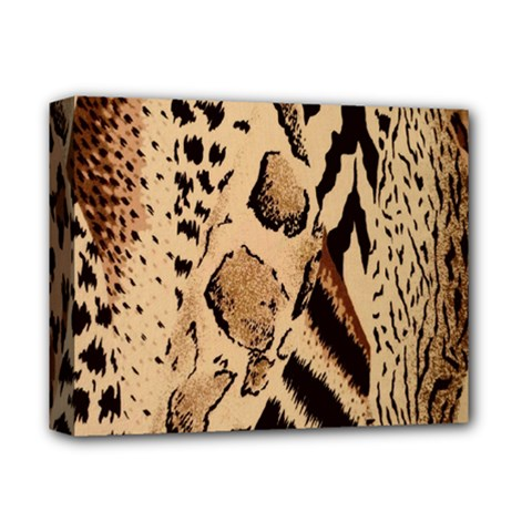 Animal Fabric Patterns Deluxe Canvas 14  X 11  by Sapixe