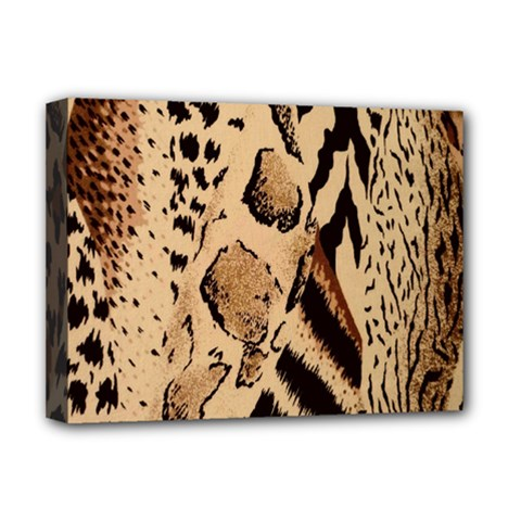 Animal Fabric Patterns Deluxe Canvas 16  X 12   by Sapixe