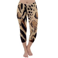 Animal Fabric Patterns Capri Winter Leggings  by Sapixe