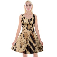 Animal Fabric Patterns Reversible Velvet Sleeveless Dress by Sapixe