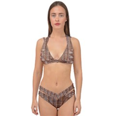 Armchair Folder Canework Braiding Double Strap Halter Bikini Set