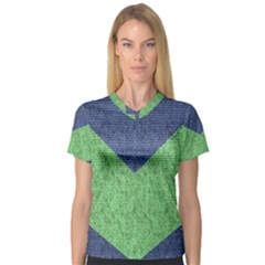 Arrow Texture Background Pattern V Neck Sport Mesh Tee by Sapixe