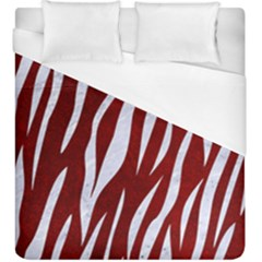 Skin3 White Marble & Red Grunge Duvet Cover (king Size) by trendistuff