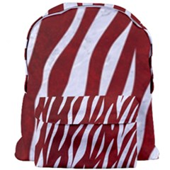 Skin3 White Marble & Red Grunge Giant Full Print Backpack