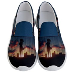 Art Sunset Anime Afternoon Men s Lightweight Slip Ons by Sapixe