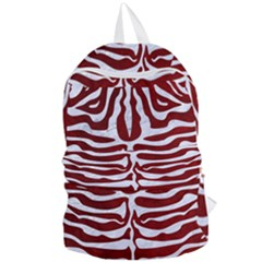 Skin2 White Marble & Red Grunge Foldable Lightweight Backpack