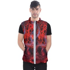 Art Space Abstract Red Line Men s Puffer Vest