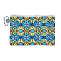 Colorful 22 Canvas Cosmetic Bag (large) by ArtworkByPatrick