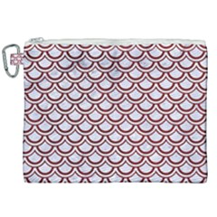 Scales2 White Marble & Red Grunge (r) Canvas Cosmetic Bag (xxl) by trendistuff