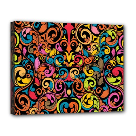 Art Traditional Pattern Canvas 14  X 11  by Sapixe