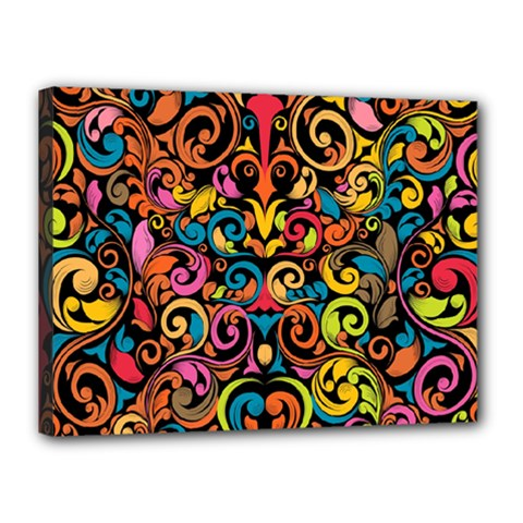 Art Traditional Pattern Canvas 16  X 12  by Sapixe