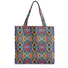 Colorful 23 Zipper Grocery Tote Bag by ArtworkByPatrick