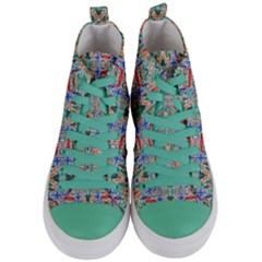 Colorful 23 Women s Mid Top Canvas Sneakers