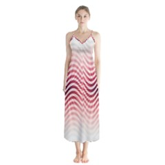 Art Abstract Art Abstract Button Up Chiffon Maxi Dress