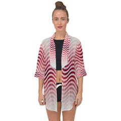 Art Abstract Art Abstract Open Front Chiffon Kimono