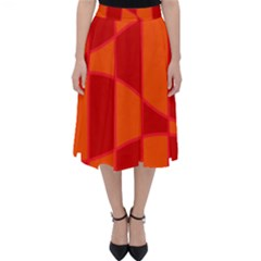 Background Texture Pattern Colorful Folding Skater Skirt by Sapixe