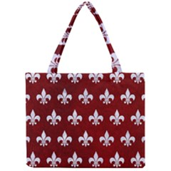 Royal1 White Marble & Red Grunge (r) Mini Tote Bag by trendistuff