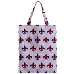 Royal1 White Marble & Red Grunge Zipper Classic Tote Bag by trendistuff