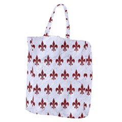 Royal1 White Marble & Red Grunge Giant Grocery Zipper Tote by trendistuff