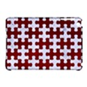PUZZLE1 WHITE MARBLE & RED GRUNGE Apple iPad Mini Hardshell Case (Compatible with Smart Cover) View1