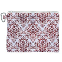 Damask1 White Marble & Red Grunge (r) Canvas Cosmetic Bag (xxl) by trendistuff