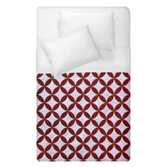Circles3 White Marble & Red Grunge (r) Duvet Cover (single Size) by trendistuff