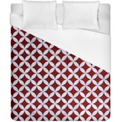 Circles3 White Marble & Red Grunge Duvet Cover (california King Size) by trendistuff
