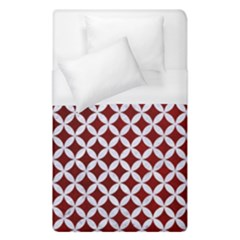 Circles3 White Marble & Red Grunge Duvet Cover (single Size) by trendistuff