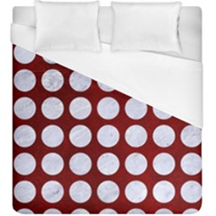 Circles1 White Marble & Red Grunge Duvet Cover (king Size) by trendistuff