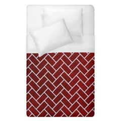 Brick2 White Marble & Red Grunge Duvet Cover (single Size) by trendistuff