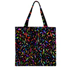 Colorful 25 Zipper Grocery Tote Bag by ArtworkByPatrick