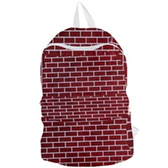 Brick1 White Marble & Red Grunge Foldable Lightweight Backpack by trendistuff