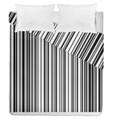 Barcode Pattern Duvet Cover Double Side (queen Size)