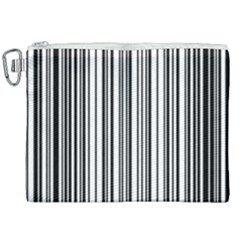 Barcode Pattern Canvas Cosmetic Bag (xxl) by Sapixe