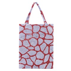 Skin1 White Marble & Red Glitter Classic Tote Bag by trendistuff