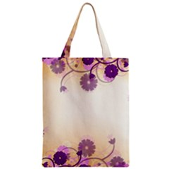 Background Floral Background Zipper Classic Tote Bag