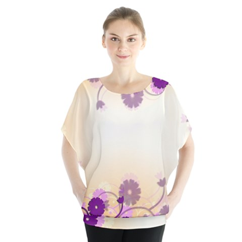 Background Floral Background Blouse by Sapixe