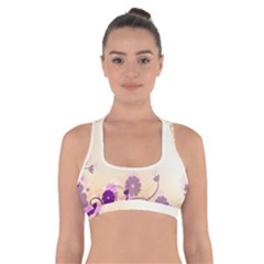 Background Floral Background Cross Back Sports Bra
