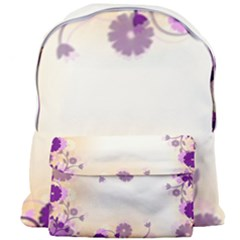 Background Floral Background Giant Full Print Backpack