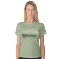 Background Pattern Green V Neck Sport Mesh Tee by Sapixe