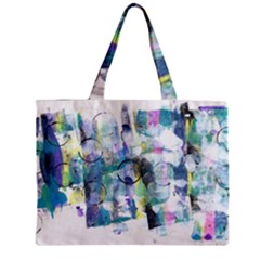 Background Color Circle Pattern Zipper Mini Tote Bag by Sapixe