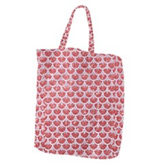 Scales3 White Marble & Red Glitter Giant Grocery Zipper Tote by trendistuff