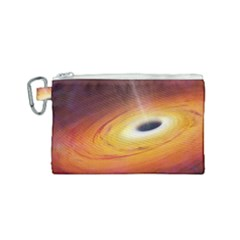 Black Hole Canvas Cosmetic Bag (small)