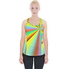 Burst Radial Shine Sunburst Sun Piece Up Tank Top by Sapixe
