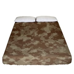 Camouflage Tarn Texture Pattern Fitted Sheet (queen Size)