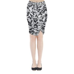 Camouflage Tarn Texture Pattern Midi Wrap Pencil Skirt by Sapixe