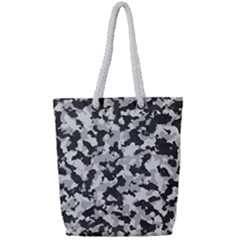 Camouflage Tarn Texture Pattern Full Print Rope Handle Tote (small)